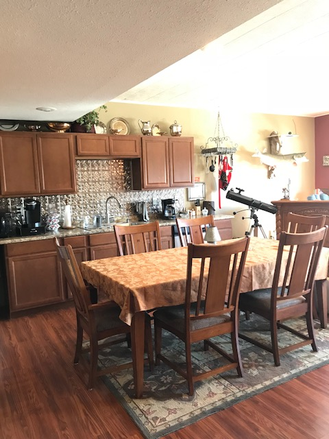 lower level living area kitchen