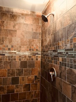 custom walk in shower master