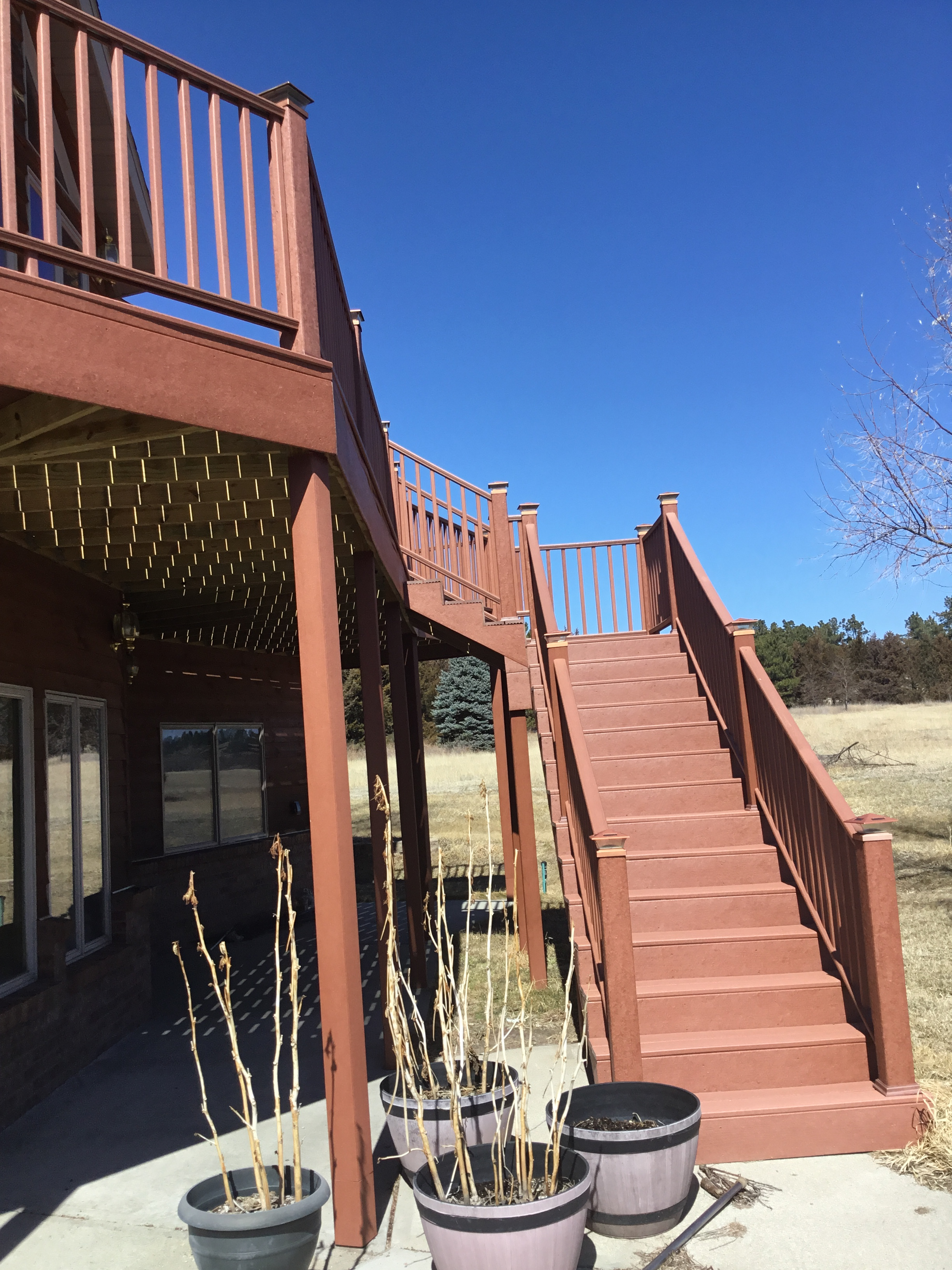 Stairs to Deck Upper Level