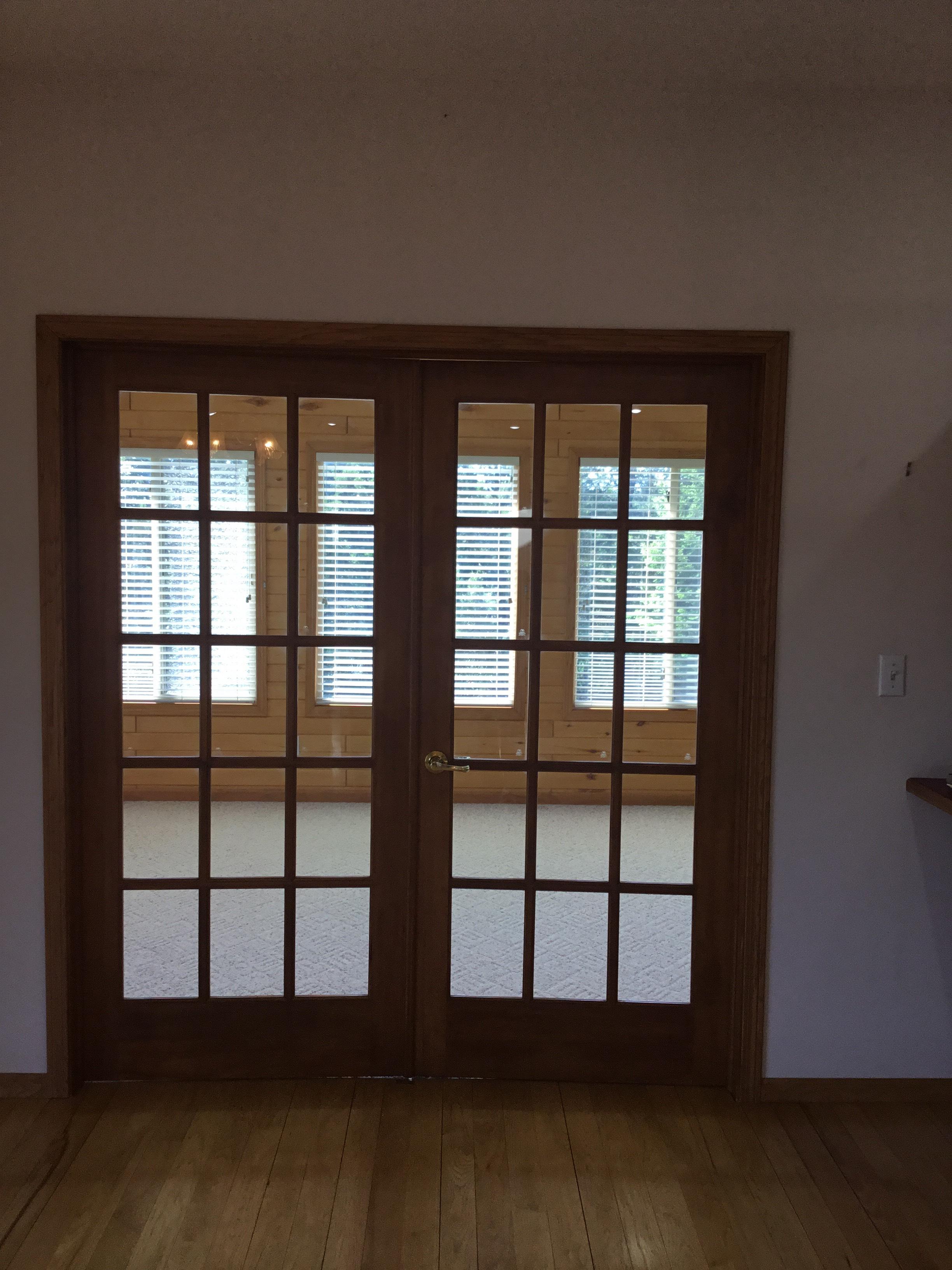 French doors Sun Room