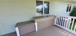 back deck with sink