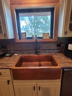 copper kitchen sink custom hammered