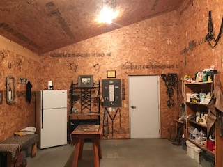 indoor riding arena tack room