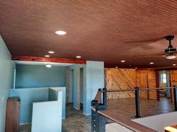 loft with wet bar