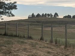 Terrain between house and barn.