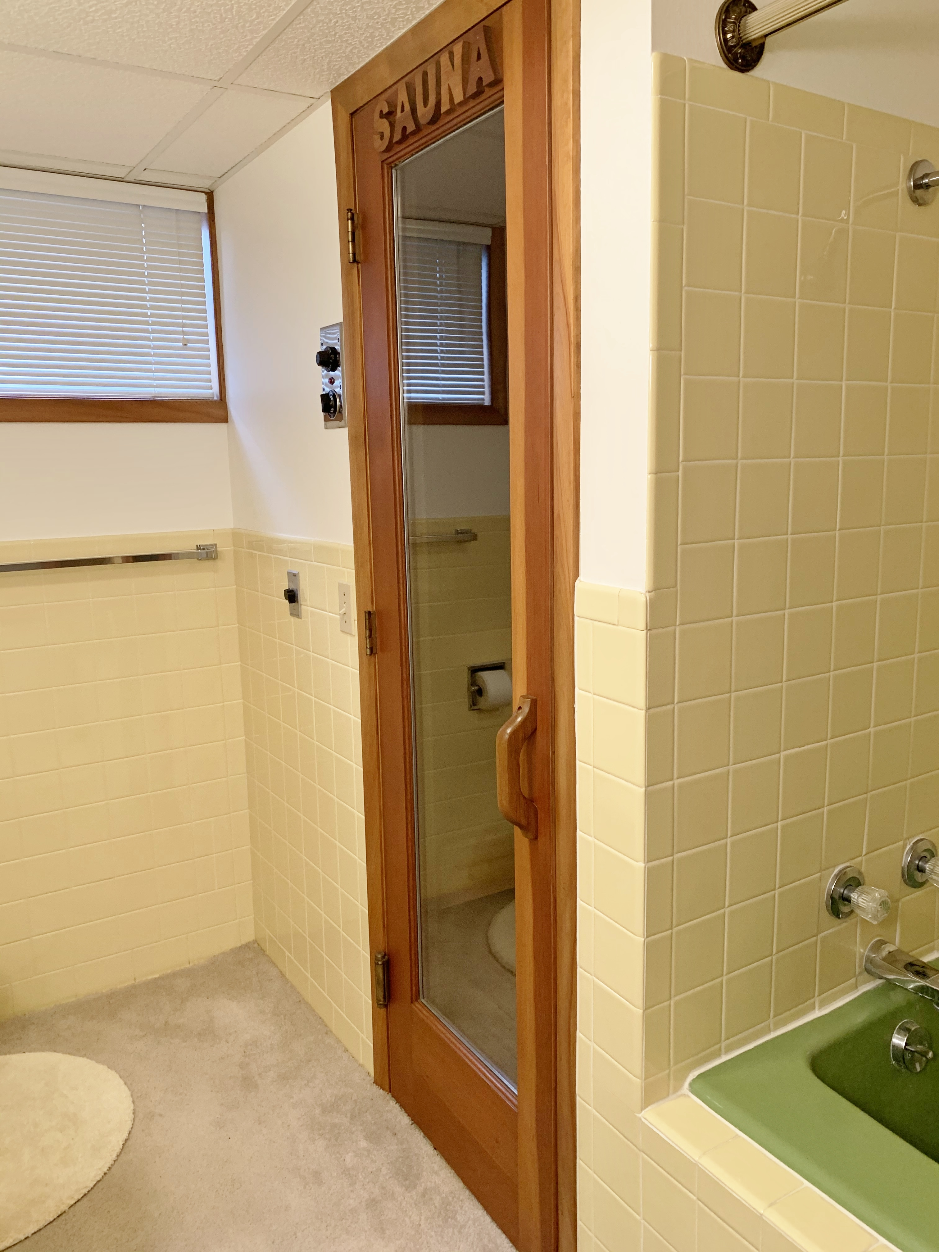 Basement bath with Sauna