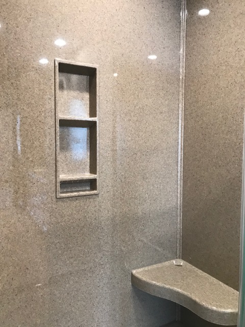 Walk in shower Unit A