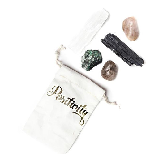 """Positivity"" Pocket Crystal Healing Set"