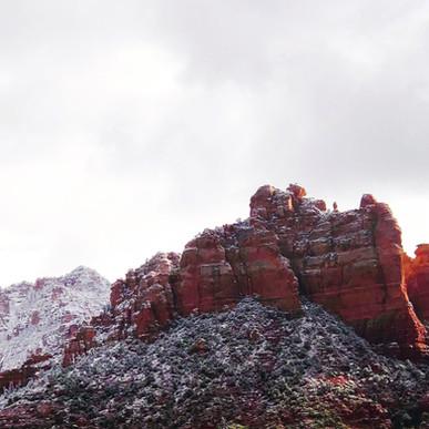Snowy Sedona Arizona Landscape
