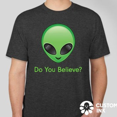 """Do you believe?"" Charcoal T-Shirt"