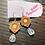 Thumbnail: Daisy Earrings Yellow + Rose Quartz