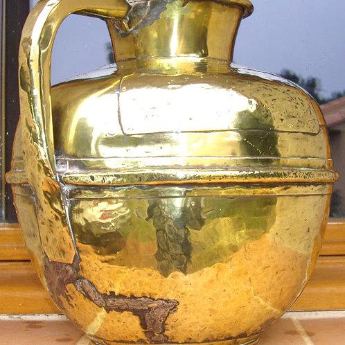 Canne à lait sphérique laiton cuivre jaune MARTELE