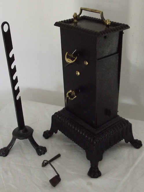 tourne broche de cheminée trépied crémaillère rôtissoire mécanique d'horlogerie
