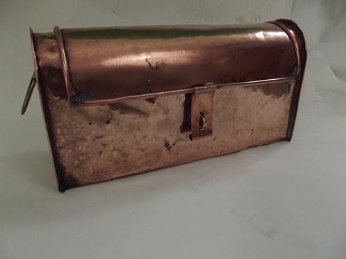 Caisse outils plombier zingueur cuivre zinc d co industrielle atelier loft anc le tourne - Barbecue caisse a outil ...