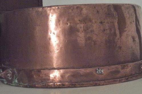daubière en cuivre ancienne XVIIIeme siecle estamp