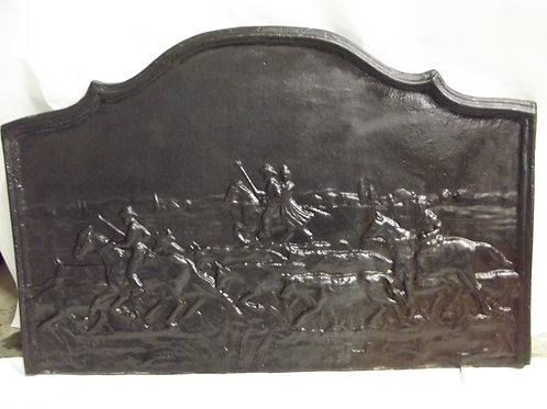 ancienne énorme plaque de cheminée de chateau scen