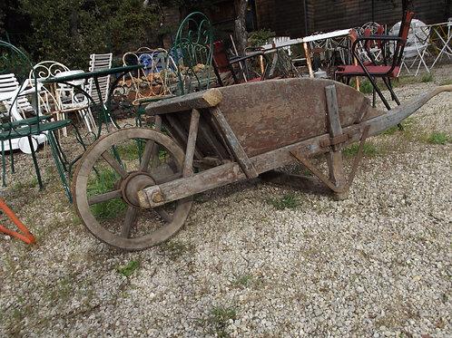 ancienne superbe brouette bois de jardin terrasse art populaire bleue 2629686682