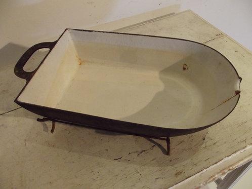lèche frite plat a jus en fonte pour tourne broche