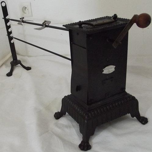 tourne broche de cheminée rôtissoire mécanique XIXeme brochettes lardoirs