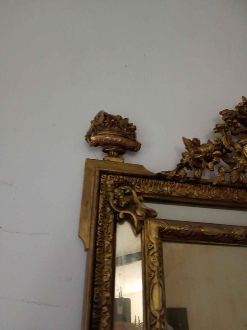 Ancien grand miroir a parclose et Fronton.