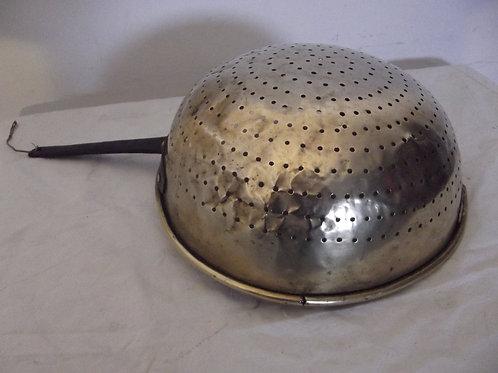 dinanderie passoire cuivre manche fer forgé XIXeme ancien copper french français