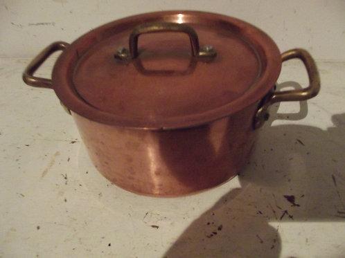 Casseroles Size : Diameter 32cm po/êles et faitouts Laiton Wok /à fond plat en cuivre pur Po/êle poign/ée en bois sain Cuivr/é Tr/épied laiton pur Pan Pot