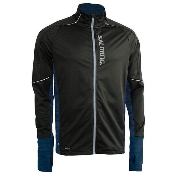 Salming - Thermal Wind Jacket Laufjacke - Herren Laufjacke blau schwarz running Jacke Laufkleidung