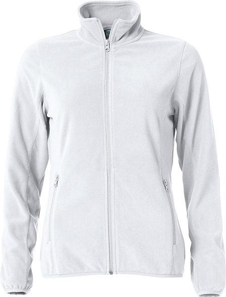 Damen Microfleecejacke in weiß