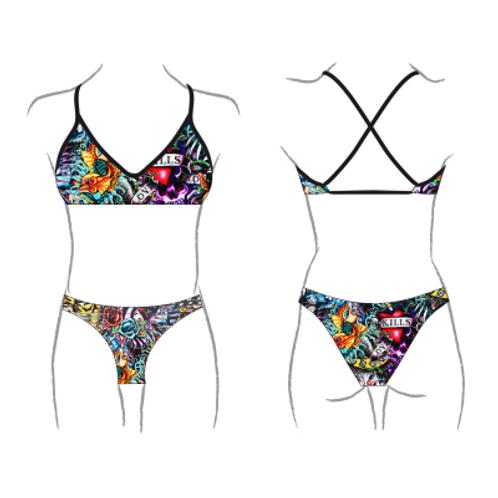 Turbo Swim - Bikini Mare - Swimkini - Tattoo Ink - 43092527
