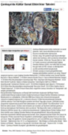 Çankaya'da Kültür Sanat Etkinlikleri Takvimi