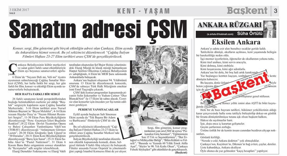 Başkent Gazetesi 03.10.2017