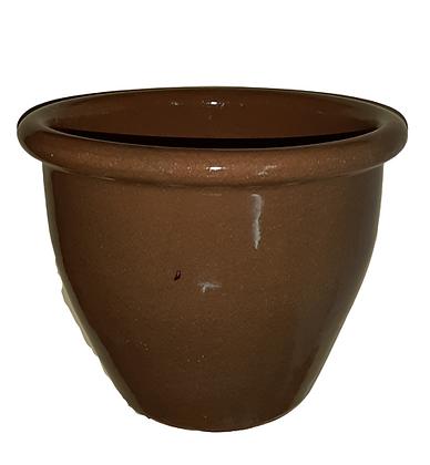 Light Brown Rolled Rim Pot