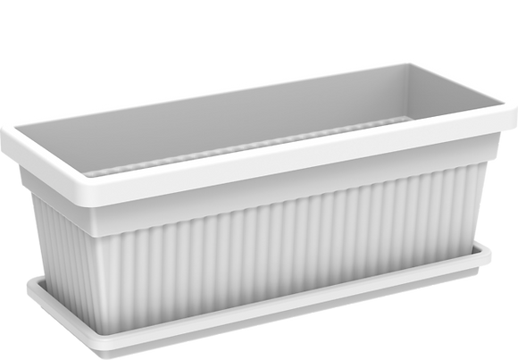 White Rectangular Pot