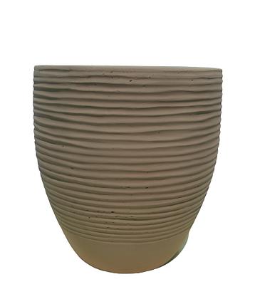 White Fiber Pot