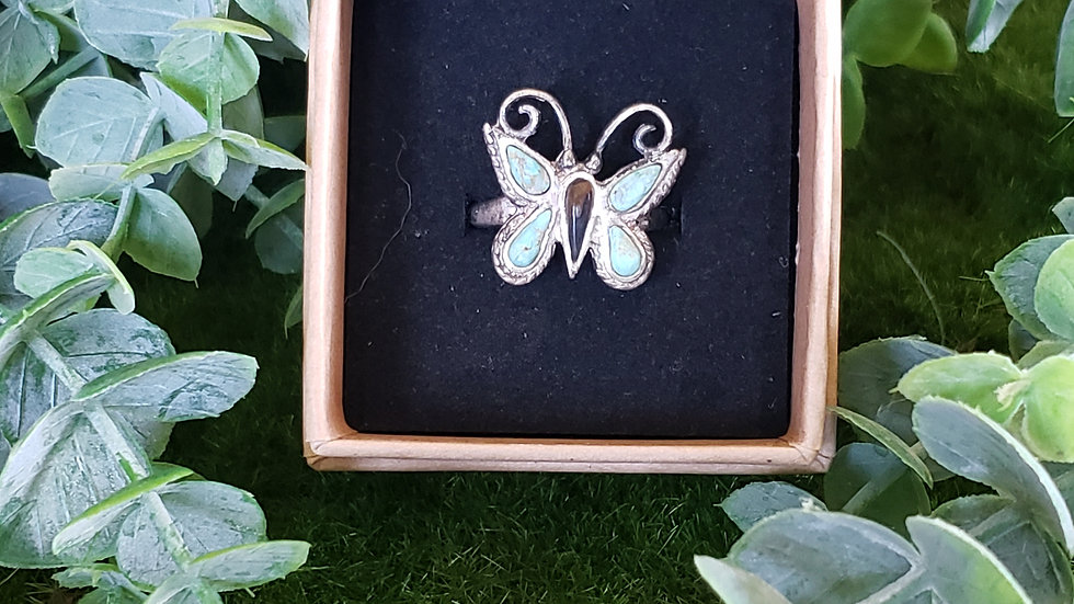 Vintage Native American Butterfly Ring