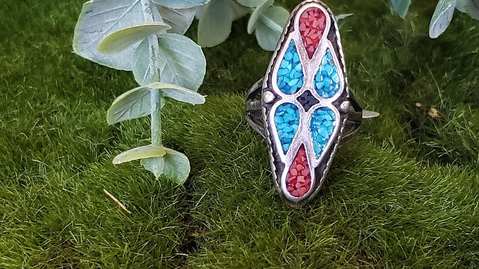 Vintage Native American Inlay Ring