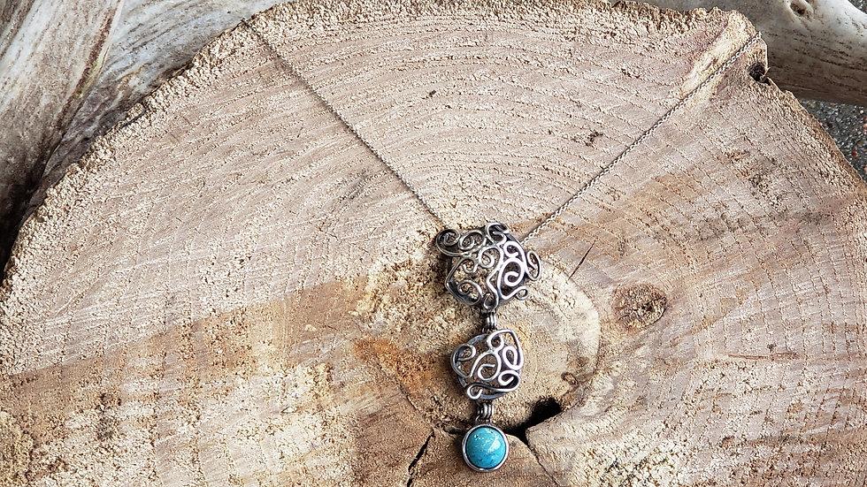Juniper Filigree Turquoise Necklace