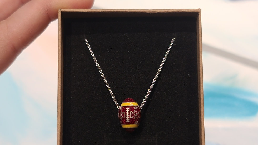 Iowa State University Football Necklace
