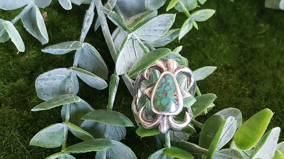 Vintage Sandcast American Indian Ring