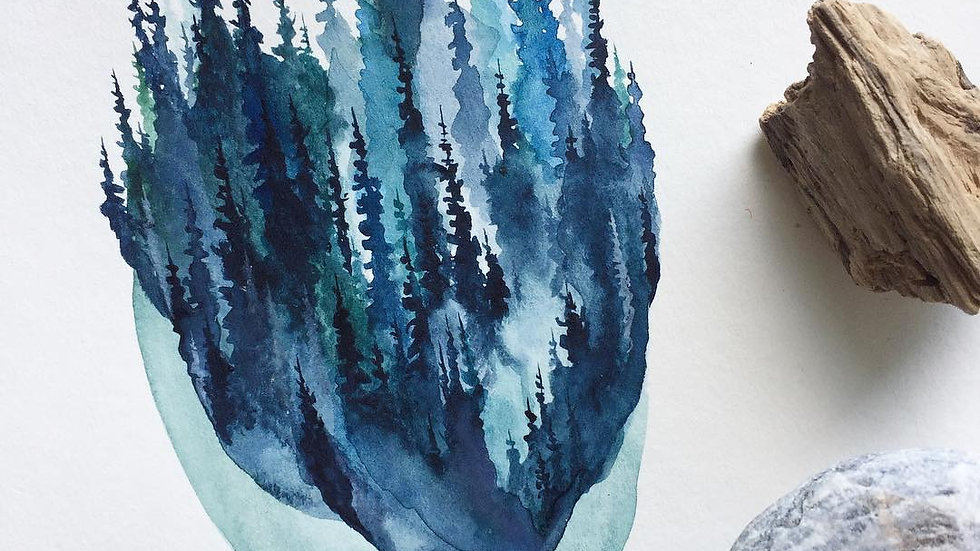 Ice Pines Print + Stubborn Dog Artwork