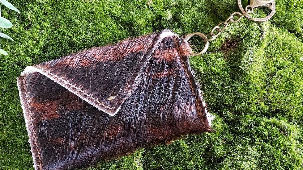 Bonny Cowhide Card Holder Keychain