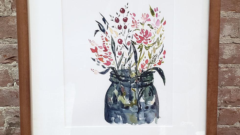Tuesday Bouquet + Original Painting + Stubborn Dog Artwork
