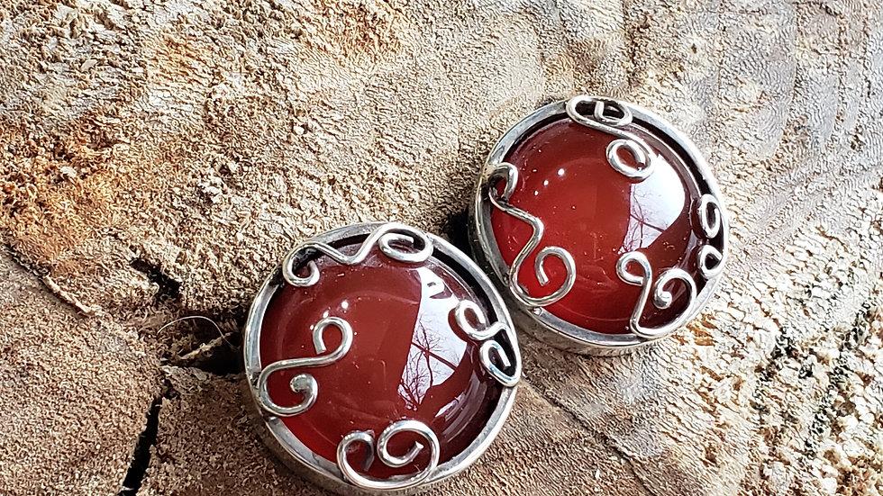 Juniper Carnelian Earrings