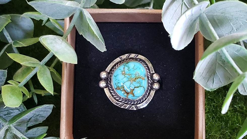 Vintage Native American Turquoise Nugget Ring