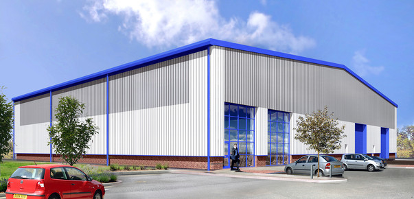 Industrial unit cgi for planning