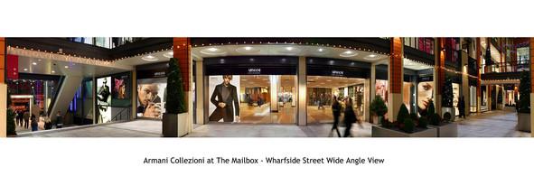 Armani retail proposal, Mailbox Birmingham