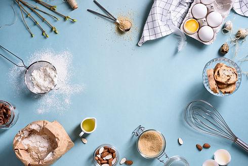 Baking or cooking background frame. Ingr