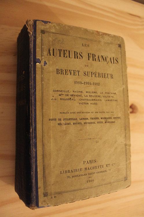 Les Auteurs Français du Brevet Supérieur 1910-1911-1912