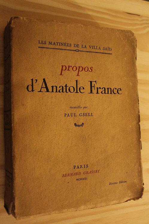 Propos d'Anatole France