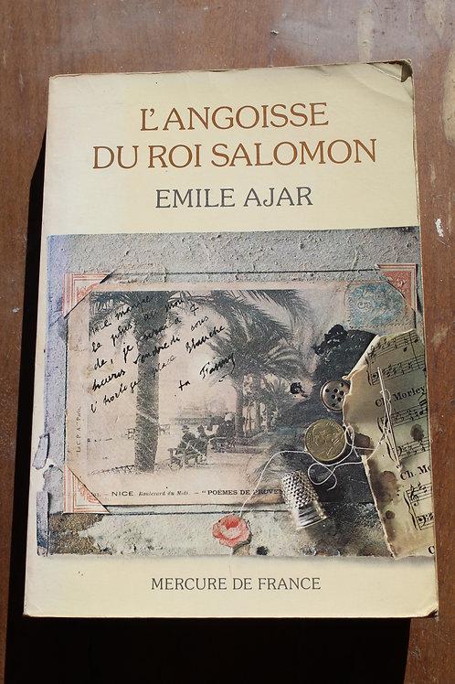 L'angoisse du roi Salomon